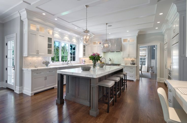 30 Spectacular White Kitchens With Dark Wood Floors